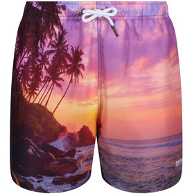 Regatta Mawson Swim Shorts Men sunset photographic